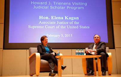 Justice Elena Kagan Visits as the 2015 Trienens Judicial Scholar