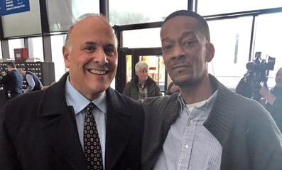 Professor Steven Drizin with client Cory Batchelor