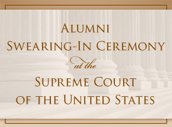 Admission Ceremony to the Bar of the United States Supreme Court