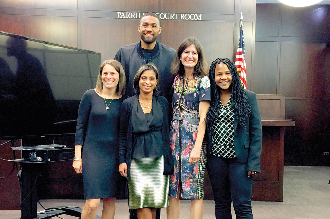 Jabari Parker with Children and Family Justice Center attorneys