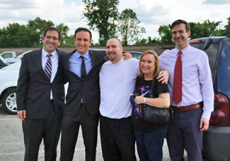 Jason Strong, his family, and attorneys at the Menard Correctional Facility
