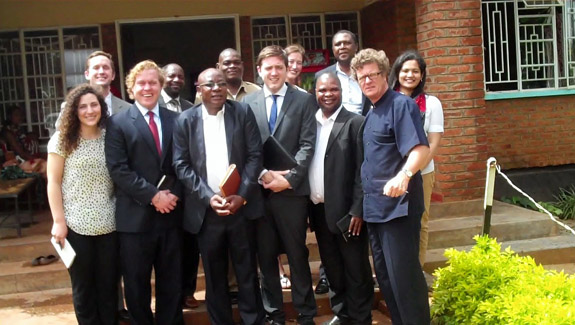 Malawi officials with Northwestern Law students