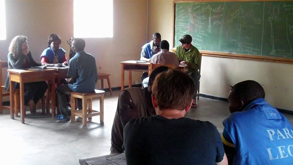 Law students and paralegals in the Mzuzu Prison in Malawi