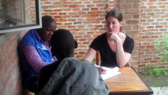 Interview at the Mzuzu Prison in Malawi