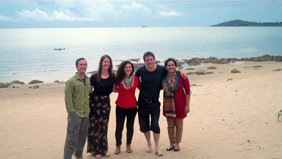 Northwestern Law students on the beach in Chintheche