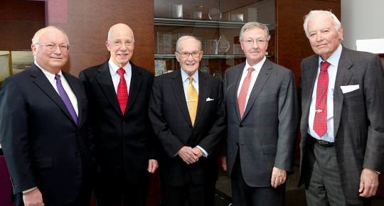 Newton Minow with Sidley Austin colleagues