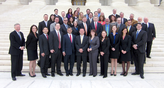 Law Alumni on Steps of U.S. Supreme Court