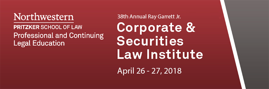 38th Annual Garrett Institute, April 26-27, 2018