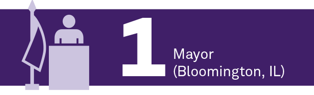 1 mayor (Bloomington, IL)
