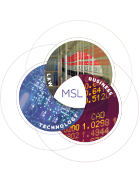 Master of Science in Law (MSL) Program Diagram: Intersection of Law, Technology and Business