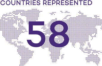 Infographic: 49 countries represented