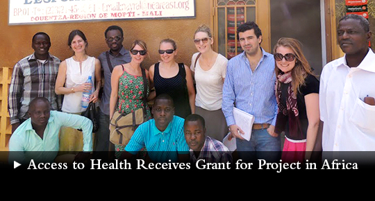 Access to Health Receives Grant for Project in Africa
