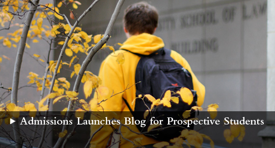 Admissions Launches Blog for Prospective Students