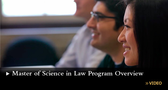 Degree Program for STEM Professionals - Master of Science in Law Overview Video
