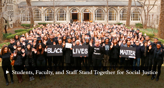 Social Justice: Students, Faculty and Staff Stand Together