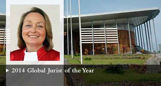 Global Jurist of the Year 2014