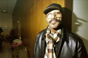 Walter McMillian at Northwestern Law in December 2002 (Photo: Mary Hanlon)