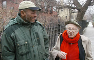 Delbert Tibbs and Studs Terkel (Photo: Jennifer Linzer)