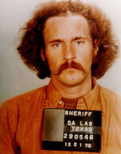 Adams after his arrest in 1976.