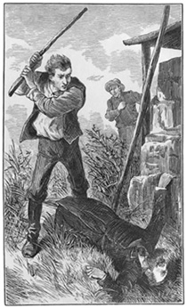 Artist's depiction of the alleged murder of Russell Colvin in 1812 in Manchester, VT.